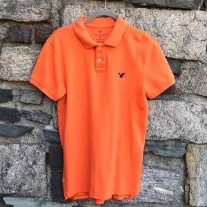 American Eagle Short Sleeve Polo Orange Size XS